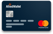 Dark Blue Allied Wallet Prepaid Card