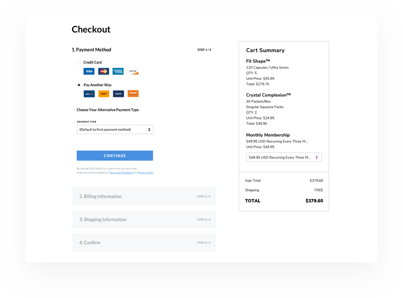 QuickPay Checkout Interface