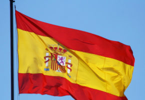 Spain flag in wind
